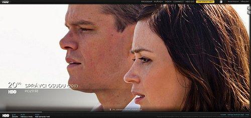 Nová podoba webových stránek filmového kanálu HBO