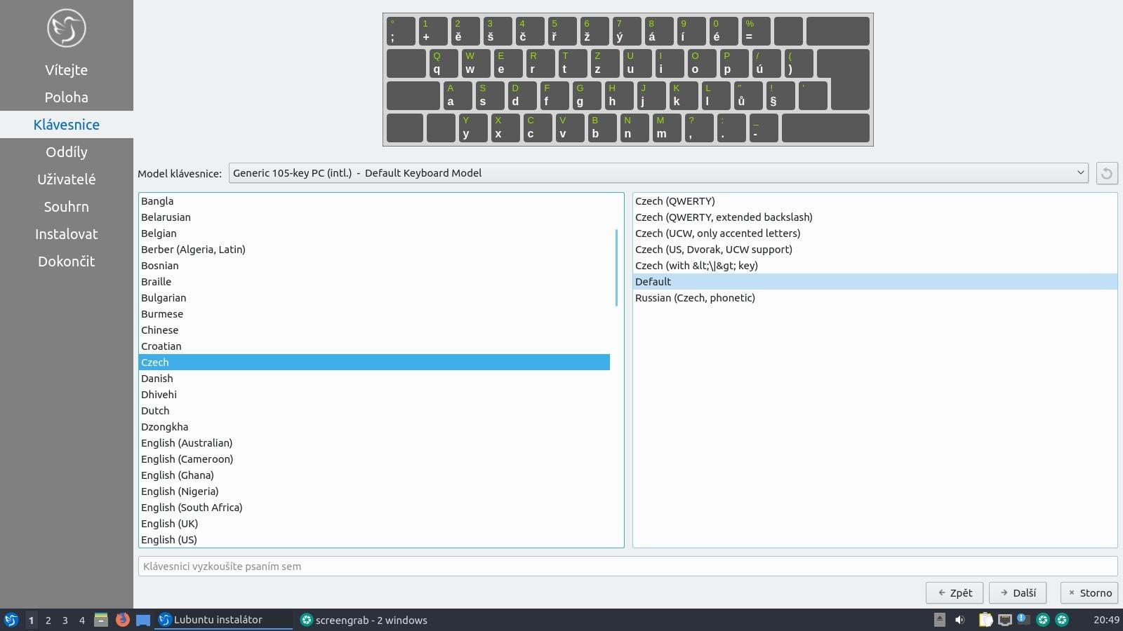 Lubuntu 19.10 - instalace