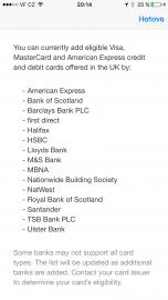 Apple Pay oficiálně podporuje pouze tyto vydavatele karet.