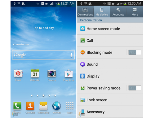 Samsung Galaxy S4 TouchWiz
