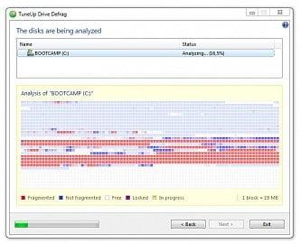 Funkce defragmentace disku samozřejmě není s TuneUp Utilities problém