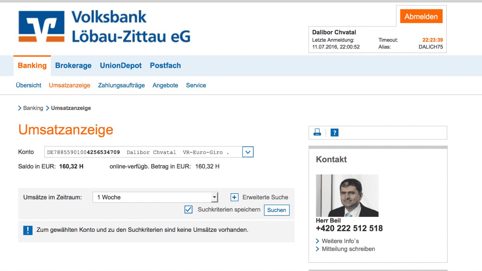 Internetové bankovnictví VR Bank
