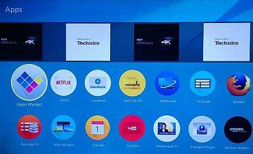 """Televizory Panasonic pro rok 2015 s Firefox OS už bohužel  """"Panasonic 4K Channel"""" nenabízejí (nebo jsem si ho alespoň nevšiml). Mezi aplikacemi, kde byste ale mohli 4K obsah najít, vidíte Netflix a Amazon Instant Video. Samozřejmě pokud na ně máte přístup, což je v našich končinách nepravděpodobné."""