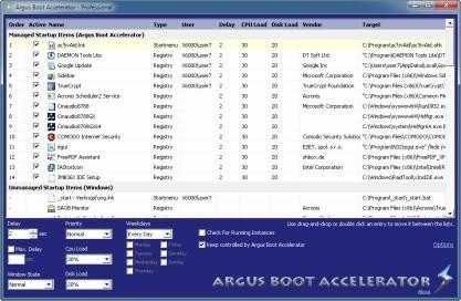Argus Boot Accelerator odloží spouštění aplikací při startu