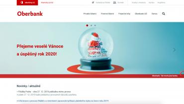 Vánoční přání Oberbank v roce 2019.