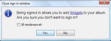 <p>Bez registace nebudete moci naplno využít potenciálu aplikace JAlbum</p>