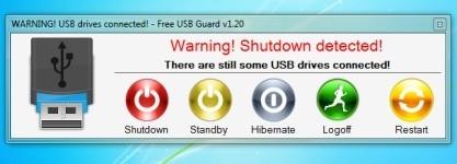 Free USB Guard vás upozorní na zapomenutý flash disk při vypínání