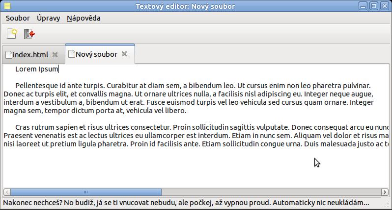 Textový editor na 350 řádků v Gtkmm - Root cz