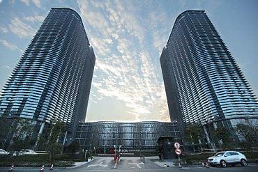 Sídlo Hikvision v Hangzhou v Číně