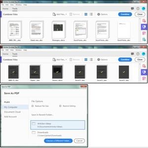 Sloučení souborů a vytvoření dokumentu PDF