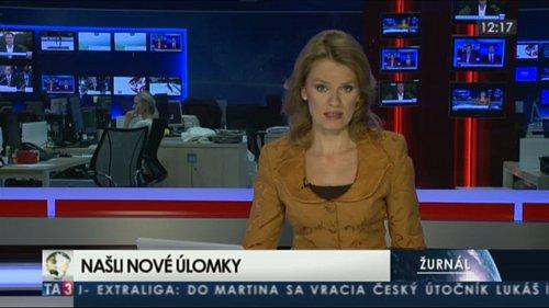 Ukázka z vysílání zpravodajského kanálu TA3.