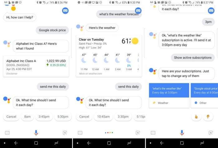 Přehled denních zpráv pomocí Asistenta Google