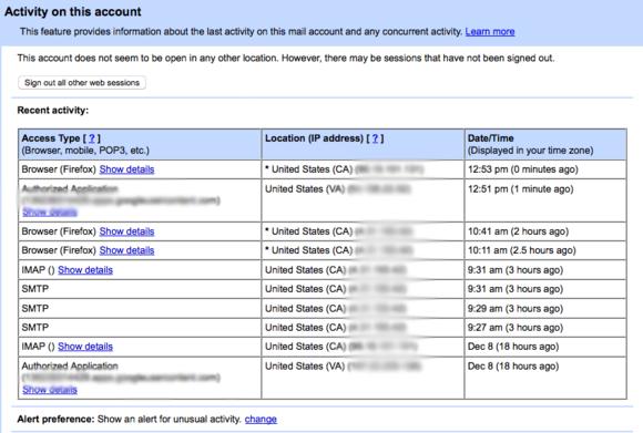 Pomocí tohoto přehledu zjistíte, kdo všechno se do vaší poštovní schránky u Gmailu přihlašoval