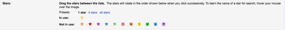 Pro nastavení důležitosti zpráv můžete používat celou řadu různých hvězdiček a znaků