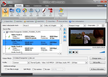 VSDC Free Video Converter převádí videa velmi rychle