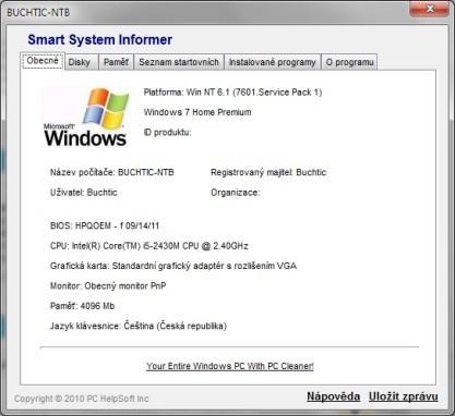 Smart System Informer vám prozradí základní informace o počítači a systému