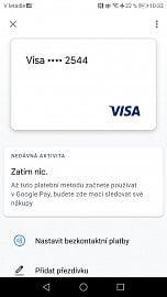 Karty Visa od RB podporovány nejsou a nebudou. (7. 4. 2020)