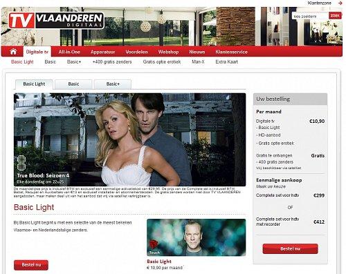 Satelitní služba TV Vlaanderen je určena pro oblast Vlámska, která se nachází na severu Belgie.