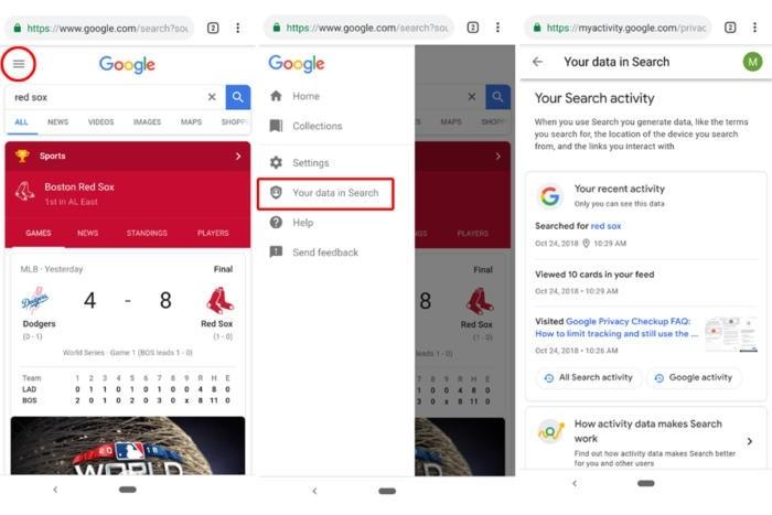 Historii výsledků vyhledávání si nyní můžete zobrazit přímo v okně internetového prohlížeče ve vašem smartphonu.