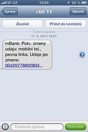 Na původní číslo přišla SMS o změně bez dalšího potvrzení
