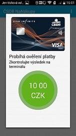 Úspěšná platba 10 Kč.