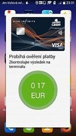 Úspěšná platba 0,17 €.