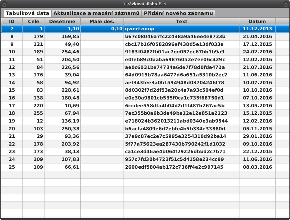 JavaFX: uložení aktualizovaných záznamů
