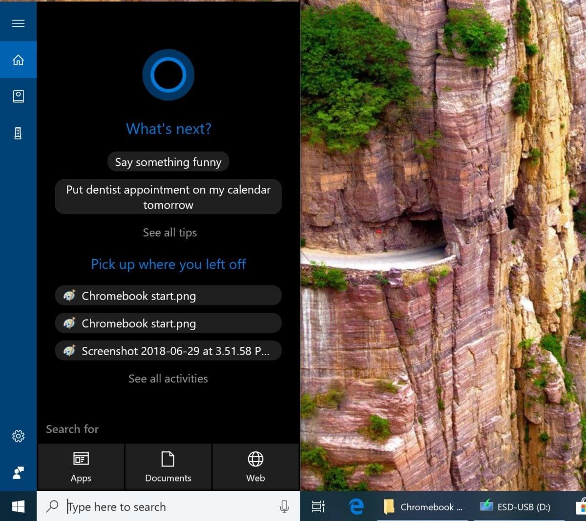 Virtuální asistentku Microsoft Cortana najdete přímo v operačním systému Windows – na rozdíl od Asistenta Google, který je dostupný pouze v zařízeních Pixelbook vyráběných přímo firmou Google.