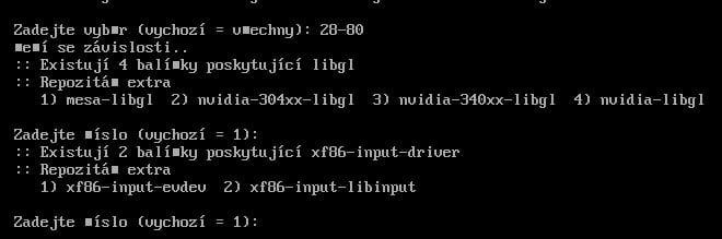 Arch: instalace grafického prostředí Xorg