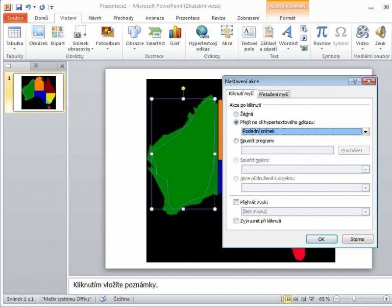 Vytváření obrázkových map v Powerpointu