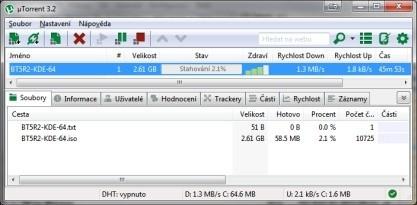µTorrent je léty prověřený klient pro stahování torrentů s množstvím funkcí