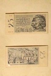 25 Kčs bankovka z roku 1958.