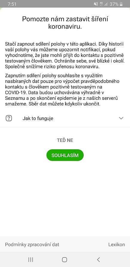 Mapy.cz nabízejí sdílení polohy, aby mohly varovat před koronavi