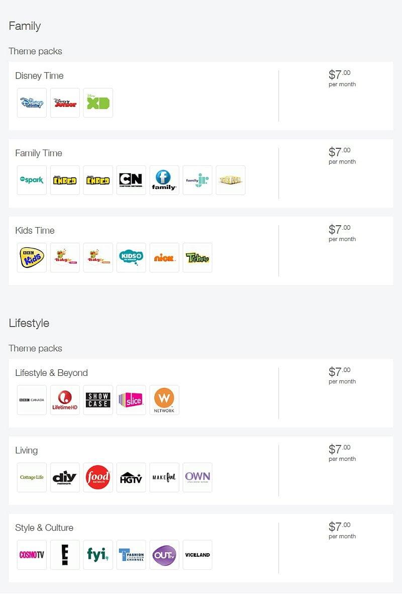 Telus - prémiové balíčky – filmy, seriály, zábava a rodina