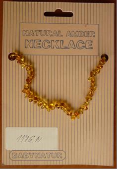 Nebezpečné jantarové náhrdelníky pro růst zoubků
