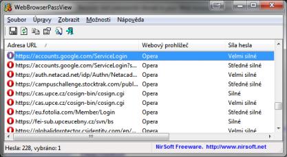 WebBrowserPassView získá uložená hesla z webového prohlížeče