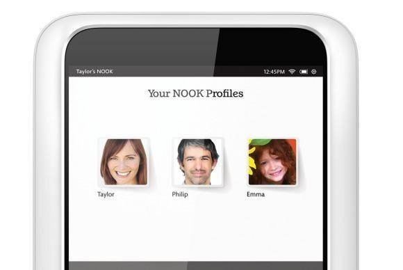 V tabletu Nook HD od firmy Barnes & Noble můžete vytvořit až šest uživatelských profilů, přičemž tyto profily můžete upravit přímo na míru vašim dětem, ať již z hlediska jejich věku, nebo pohlaví.