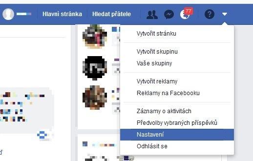 Nastavení Facebooku