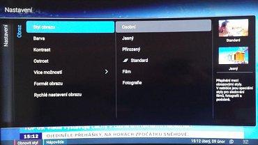 Obrazové režimy jsou solidně rozlišeny, v menu pak ještě najdete nastavení dalších dvou, resp. jednoho (PC a herní konzole).