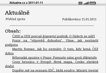 Aktuálně.cz s nabídkou pro Kindle