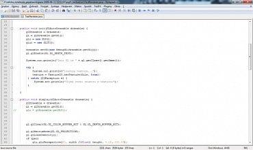 <p>Přehledné uživatelské prostředí Notepad++</p>