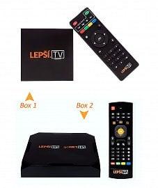 Oba TV boxy služby Lepší.TV /goNET TV