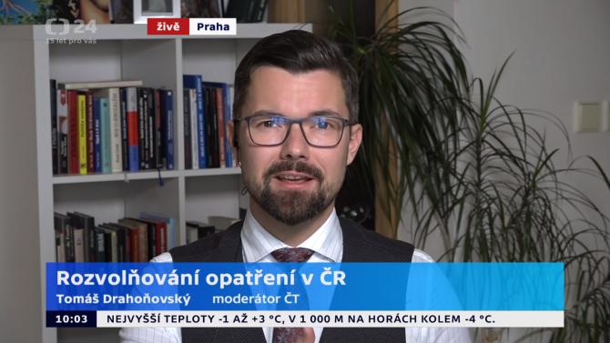 [aktualita] Z České televize odchází moderátor Tomáš Drahoňovský