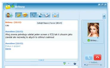 Volání z ICQ na ICQ