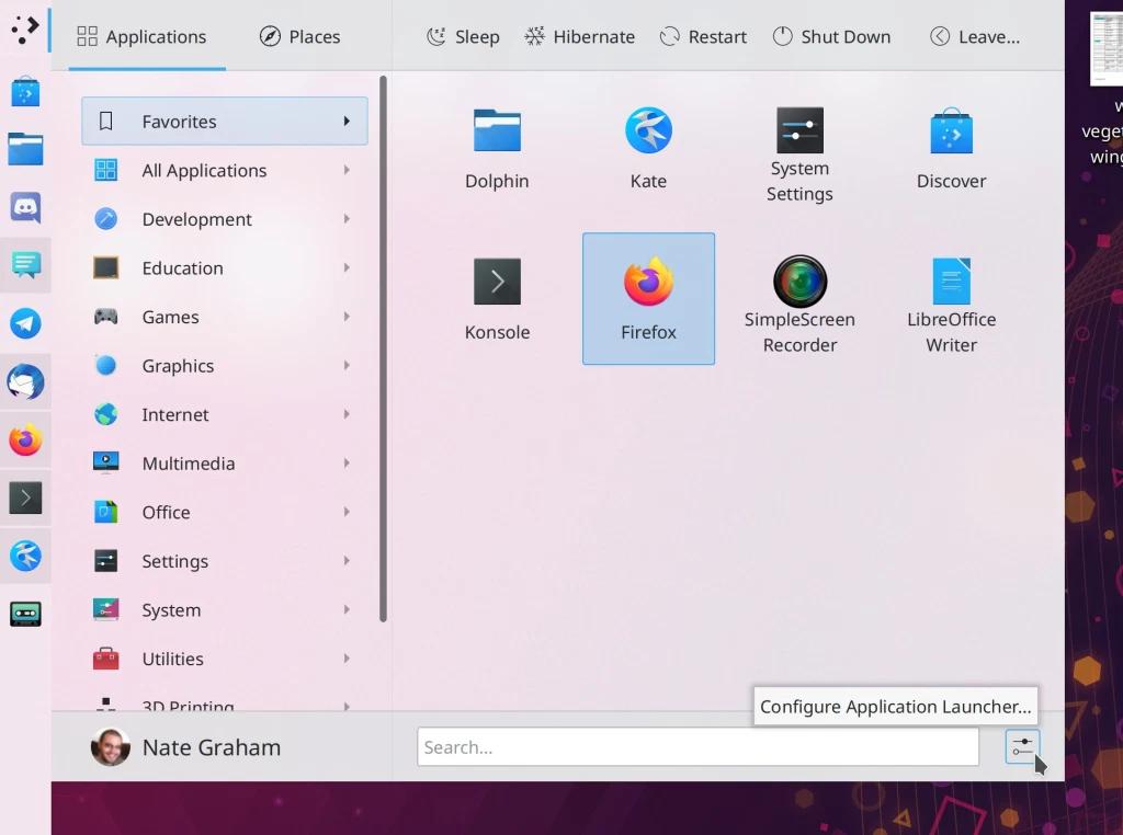 KDE Plasma 5.21 (leden 2021)