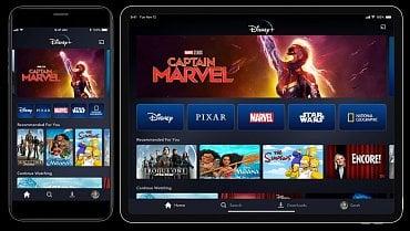 Mobilní aplikace Disney+