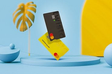 Nový design fyzických plastových karet Twisto. (05/2020)