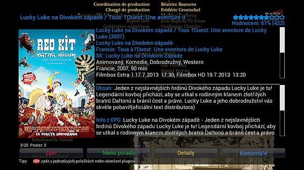 Stáhněte si plugin Česko-Slovenské filmové databáze (CSFD) a máte z elektronického programového průvodce (EPG) okamžitě přístup i k dalším informacím o právě vysílaném pořadu.