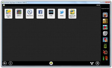 Domovská stránka s nainstalovanými aplikacemi