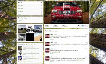Jeep na Twitteru (nehacknutý Jeep)